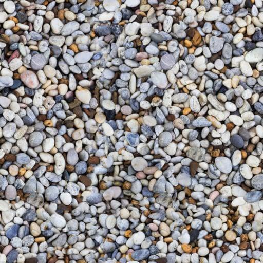 multicolor river pebbles seamless texture