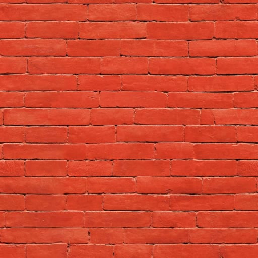 Painted red brick wall