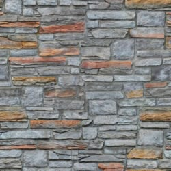 Mixed size rectangular stone wall seamless texture