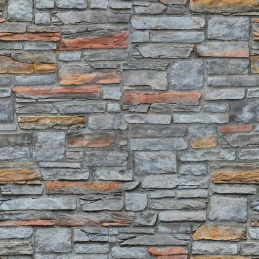 Mixed size rectangular stone wall seamless texture