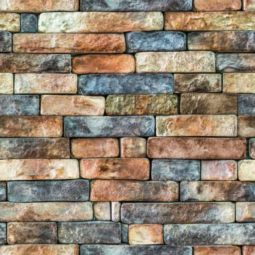 Multicolored stone wall seamless texture