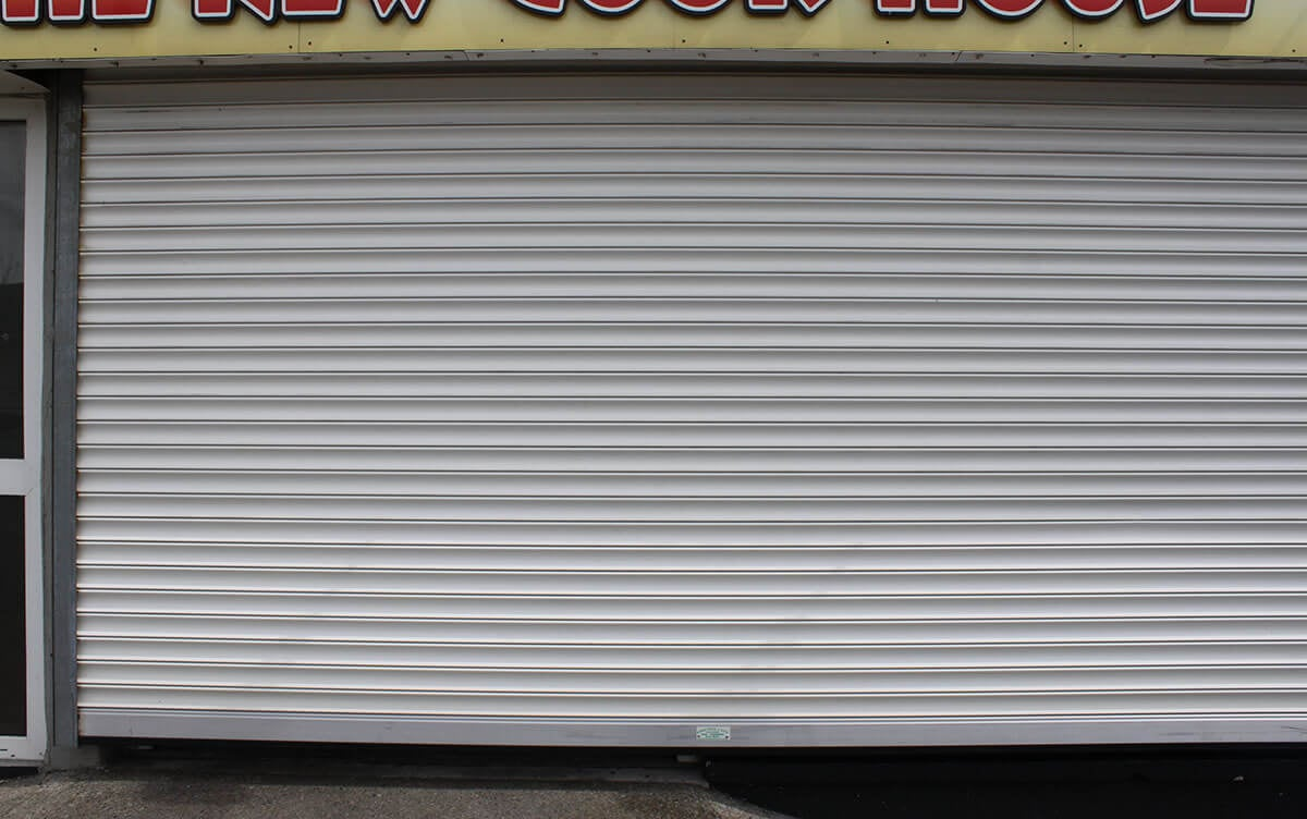 shop front with rolling shutter