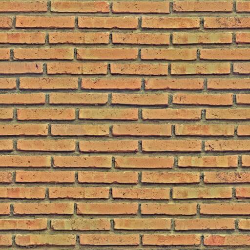 ocher brick wall seamless texture