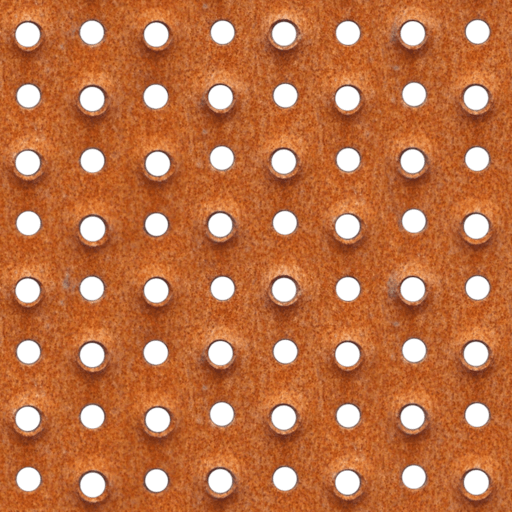 rusty industrial perforated steel seamless texture