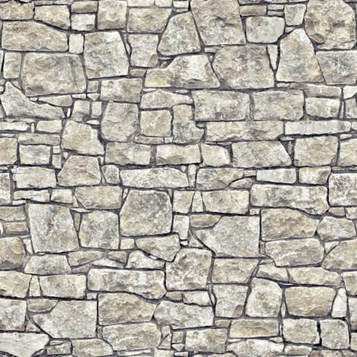stone wall with mortar - seamless texture
