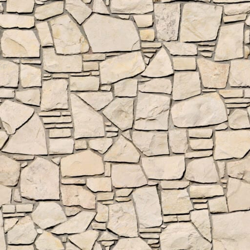 Irregula warm soft stone wall