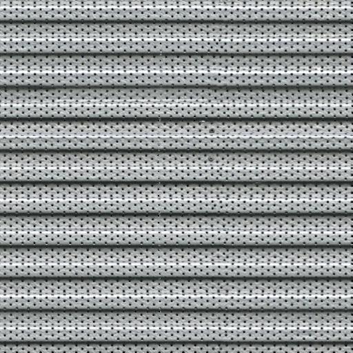 Smooth undulating metal plate