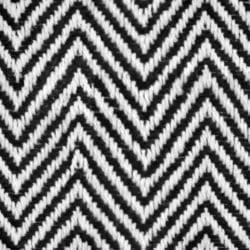 Black and white fishbone zig-zag pattern