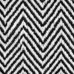 Black and white fishbone zig-zag pattern