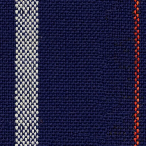 Blue woven cloth with white and red stripes - seamless texture