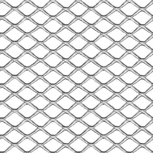 Expanded aluminum grille mesh