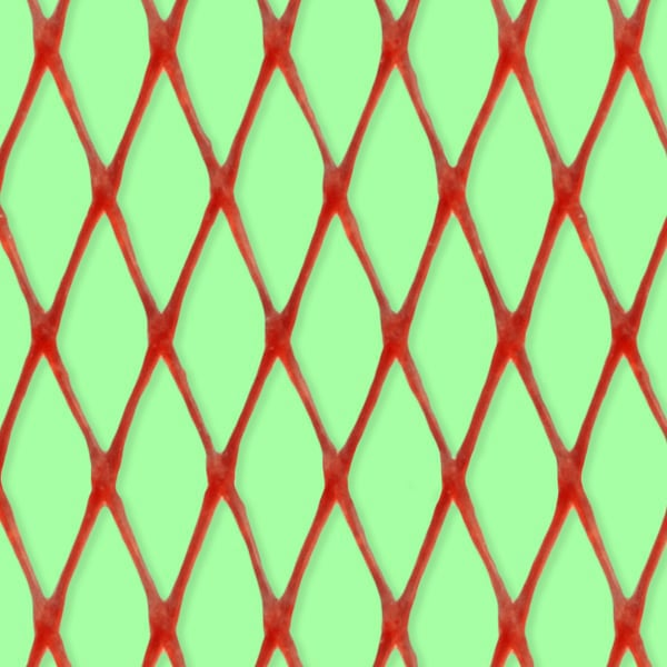 Plastic net for vegetable packaging - close up