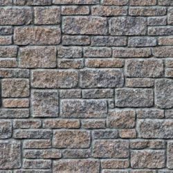 Rectangular stone wall