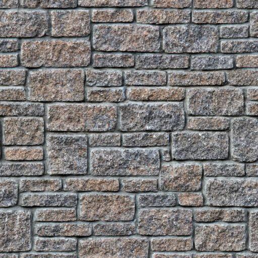 Rectangular stone wall