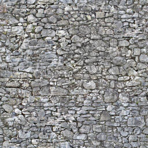 Irregular stone wall