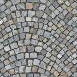 cobblestone pavement - seamless texture