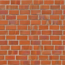 Decorative orange brick wall