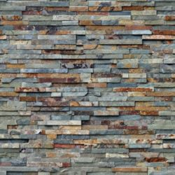 Multicolor slate wall cladding panels seamless texture