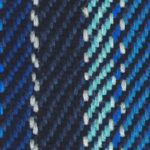 blue shaded knitted scarf