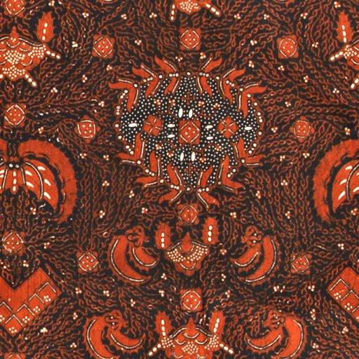Tie-dyed cloth batik