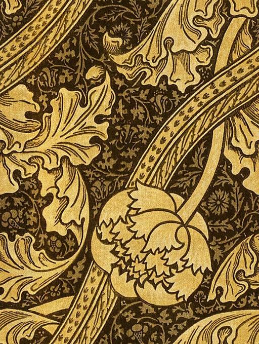 Victorian velvet wallpaper
