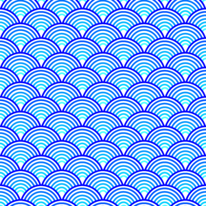 Blue abstract wave pattern