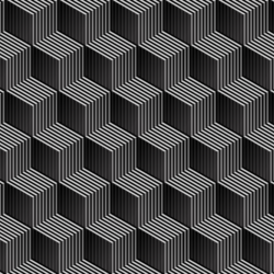 Isometric cubes stripes with shades