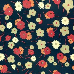 Pattern of colorful flowers on dark background