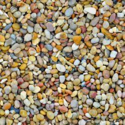 Warm multicoloured round pebbles
