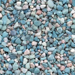 Blue and white river pebbles