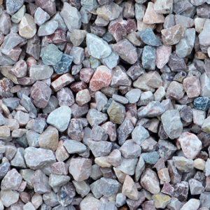 Colorful aggregate close-up