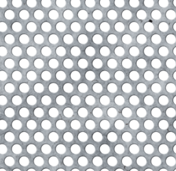 scratched worn perforated metal sheet